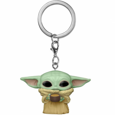 Star Wars The Mandalorian Grogu Child with Cup Funko Pop! Keychain