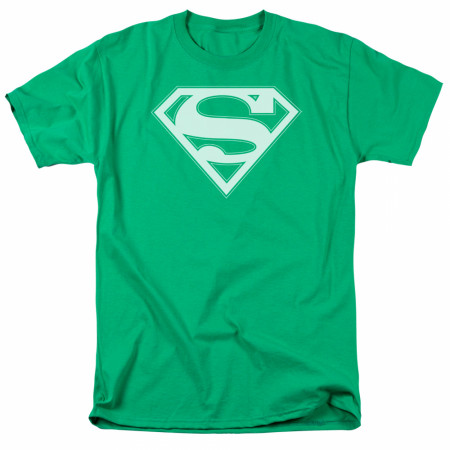 Superman White Logo Green T-Shirt