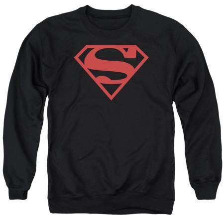 Superman Black and Red Logo Crewneck Sweatshirt