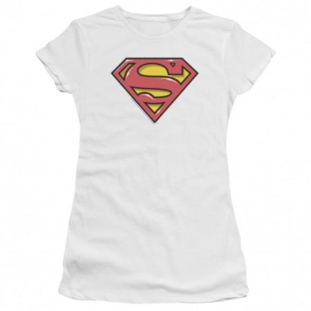 Superman Airbrushed Logo Women's Tshirt