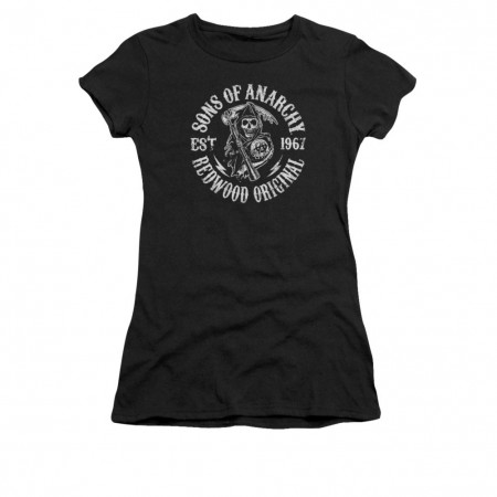 Sons Of Anarchy Redwood Black Juniors T-Shirt