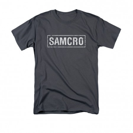 Sons Of Anarchy SAMCRO Logo Gray T-Shirt