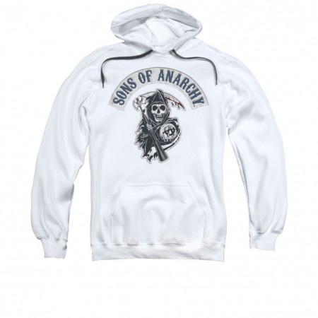 Sons Of Anarchy Bloody Sickle White Pullover Hoodie