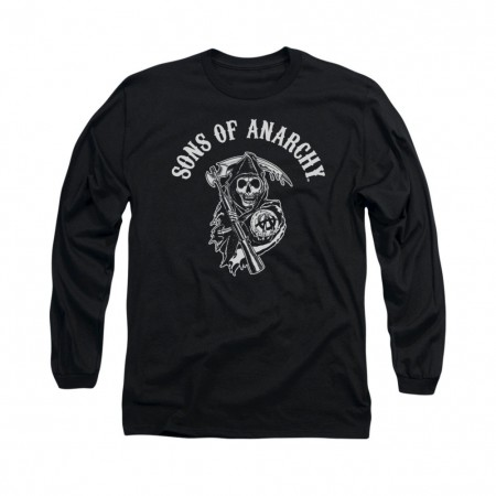 Sons Of Anarchy SOA Reaper Black Long Sleeve T-Shirt
