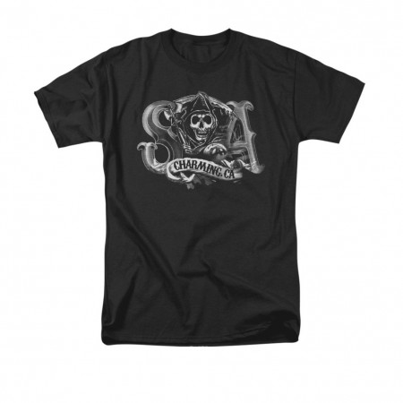 Sons Of Anarchy Charming CA Black T-Shirt