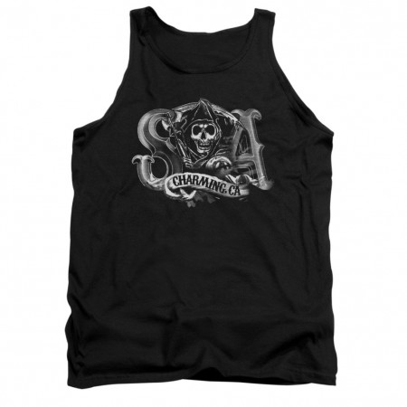 Sons Of Anarchy Charming CA Black Tank Top