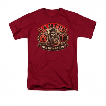 Sons Of Anarchy Men's Red Men Of Mayhem T-Shirt