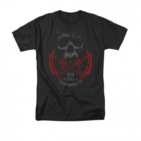 Sons Of Anarchy Cross Guns Black T-Shirt