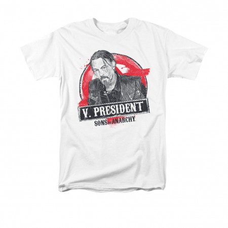 Sons Of Anarchy Vice President White T-Shirt