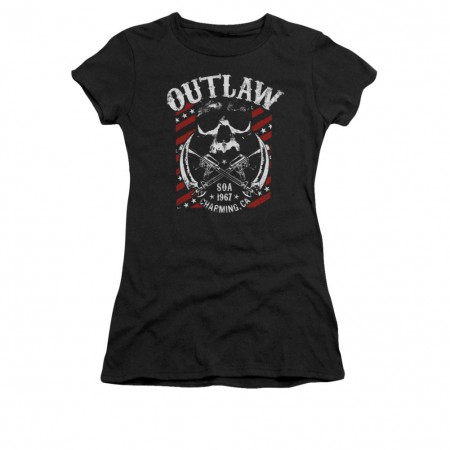 Sons Of Anarchy Outlaw Black Juniors T-Shirt