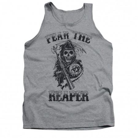 Sons Of Anarchy Fear The Reaper Gray Tank Top