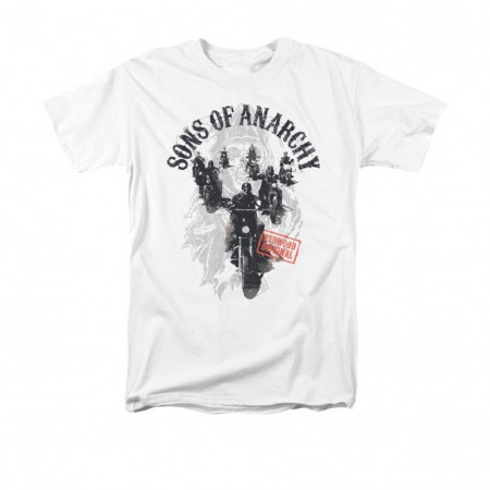 Sons Of Anarchy Reapers Ride White T-Shirt