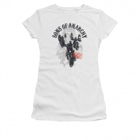 Sons Of Anarchy Reapers Ride White Juniors T-Shirt