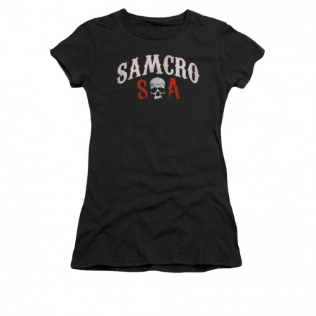 Sons Of Anarchy SAMCRO Forever Black Juniors T-Shirt
