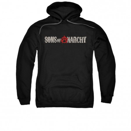 Sons Of Anarchy Beat Up Logo Black Pullover Hoodie