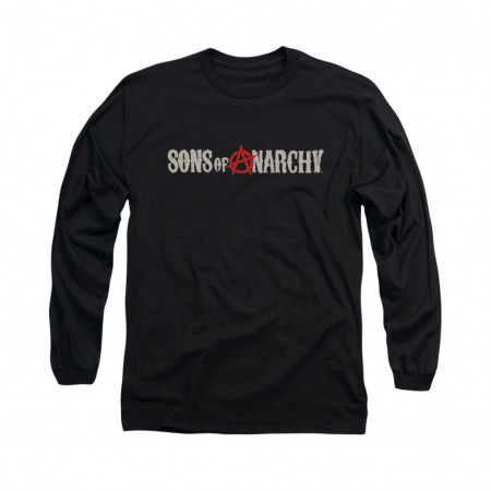 Sons Of Anarchy Beat Up Logo Black Long Sleeve T-Shirt