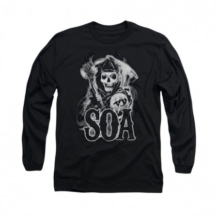 Sons Of Anarchy Smoky Reaper Black Long Sleeve T-Shirt