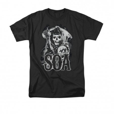 Sons Of Anarchy Smoky Reaper Black T-Shirt