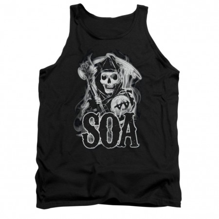 Sons Of Anarchy Smoky Reaper Black Tank Top