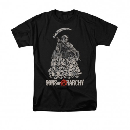 Sons Of Anarchy Pile Of Skulls Black T-Shirt
