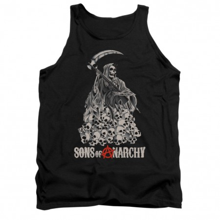 Sons Of Anarchy Skull Pile Black Tank Top