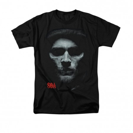 Sons Of Anarchy Skull Face Black T-Shirt