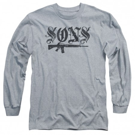 Sons Of Anarchy Sons Gun Long Sleeve Tshirt