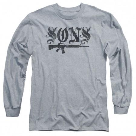 Sons Of Anarchy Sons Gun Long Sleeve Tshirt