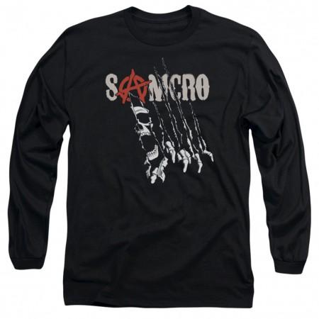 Sons Of Anarchy Rip Through Long Sleeve Tshirt
