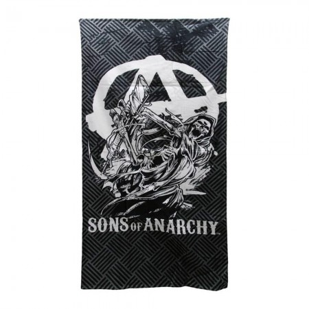 Sons Of Anarchy Logo Grey Beach Towel