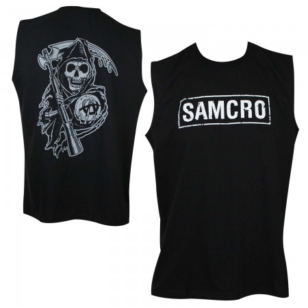 Sons Of Anarchy Men's Black SAMCRO Muscle Tank