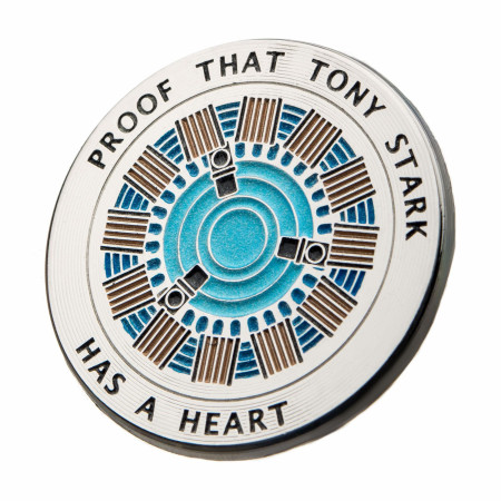 Iron Man Proof Tony Has a Heart Pin