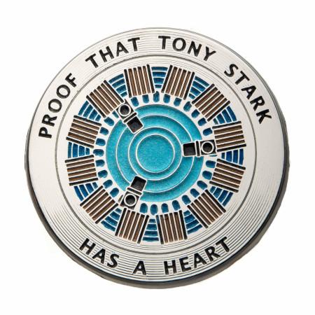 Iron Man Proof Tony Has a Heart Pin
