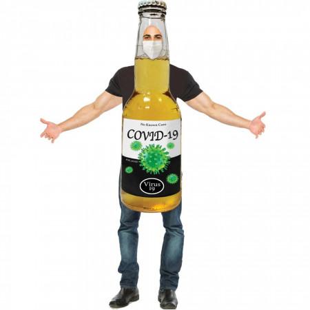 Covid Corona Virus Beer Bottle Halloween Costume
