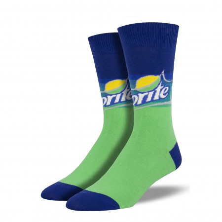 Sprite Green And Blue Socks