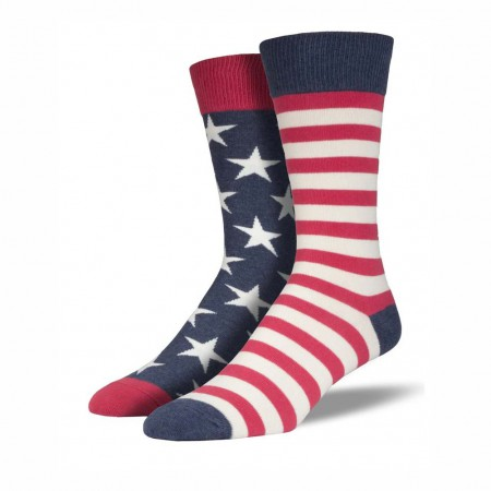 American Flag Stars & Stripes Men's Socks