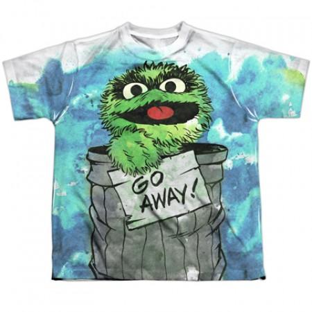 Sesame Street Oscar The Grouch Go Away Youth Tshirt