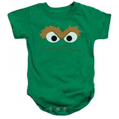 Sesame Street Oscar The Grouch Face Onesie