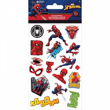 Spider-Man Comic Images and Sound Effects Sticker Pack