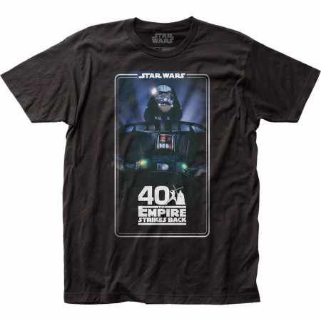 Star Wars 40th Anniversary Empire Strikes Back Poster T-Shirt