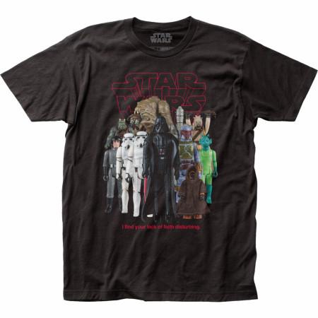 Star Wars Classic Original Trilogy Bad Guys Action Figures T-Shirt