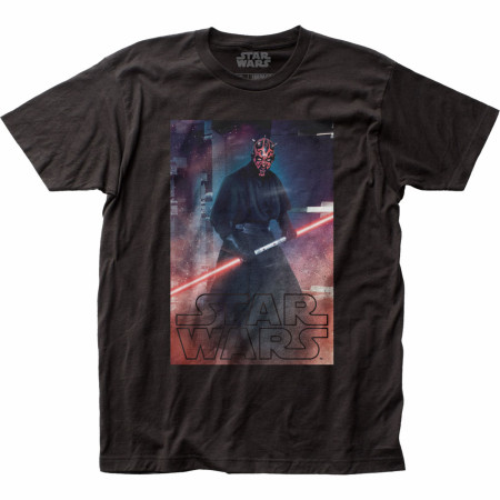 Star Wars Darth Maul Characer with Double Bladed Lightsaber T-Shirt