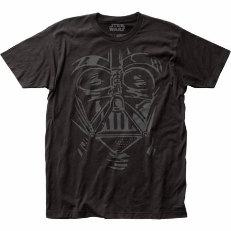 Star Wars Darth Vader Face Helmet Sketch T-Shirt