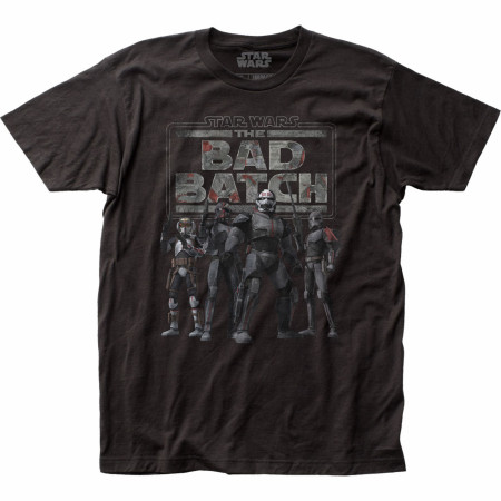 Star Wars The Clone Wars The Bad Batch Line Up with Logo T-Shirt