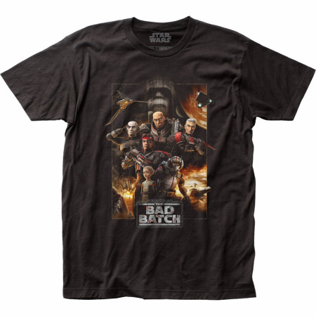 Star Wars The Clone Wars The Bad Batch Characters T-Shirt