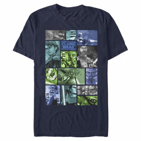 Star Wars Clone Wars Panels T-Shirt