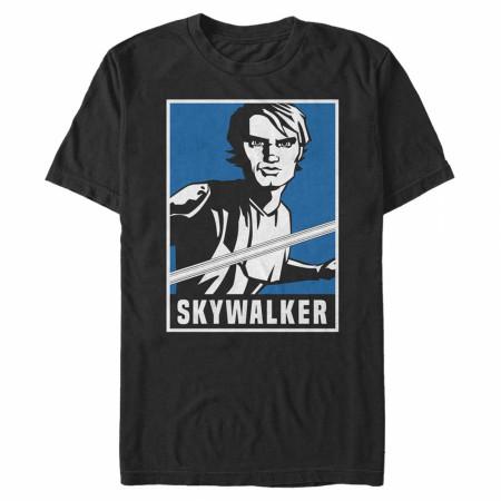 Star Wars Clone Wars Anakin Poster T-Shirt