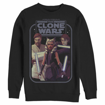 Star Wars The Clone Wars Hero Lineup Sweatshirt