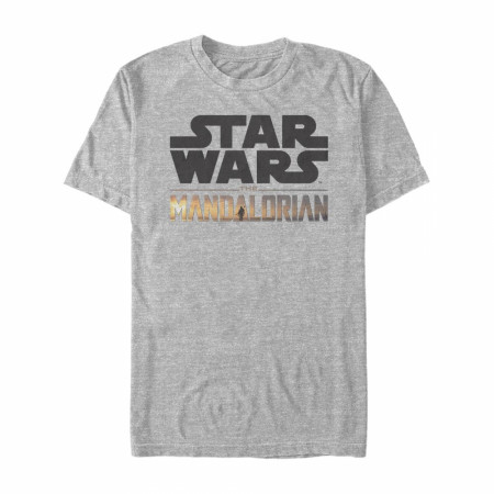 Star Wars The Mandalorian Logo Grey T-Shirt