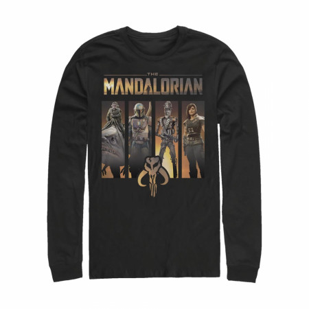 The Mandalorian Character Panels Long Sleeve Shirt